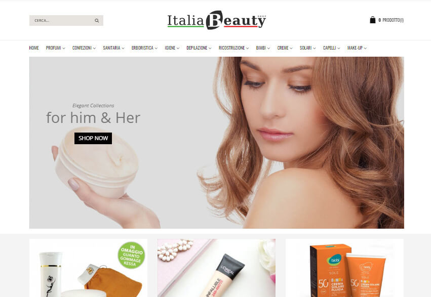 E-Commerce Magento ItaliaBeautyShop