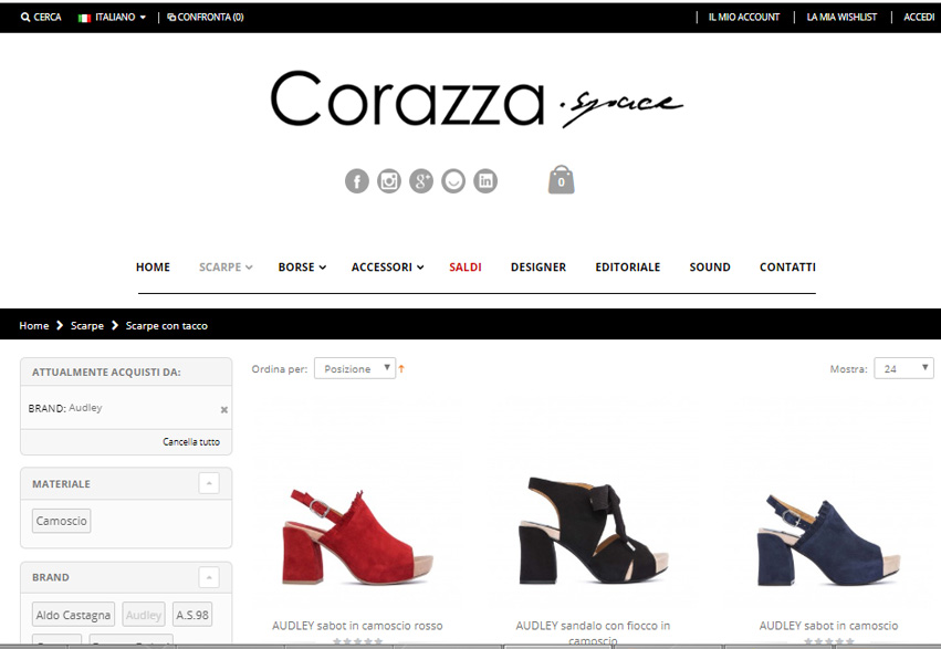 E-Commerce Magento Corazza Space