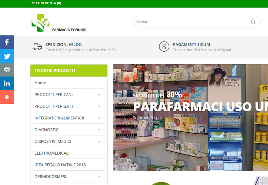 E-Commerce Magento Farmacia Fornari