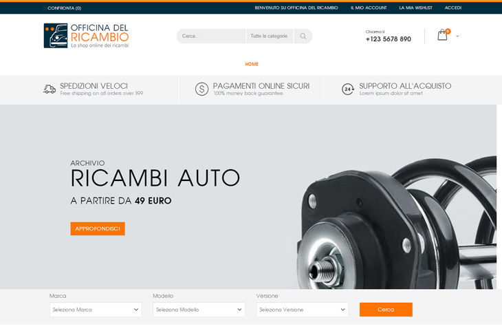 E-Commerce Magento Officina del Ricambio