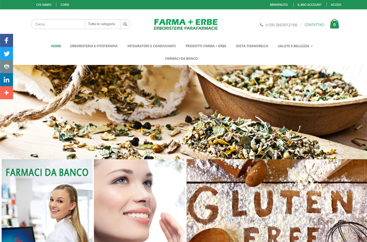 E-Commerce Magento FarmaErbe