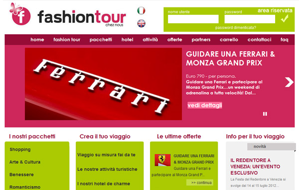 Sito web, logo e copywriting per Fashion Tour