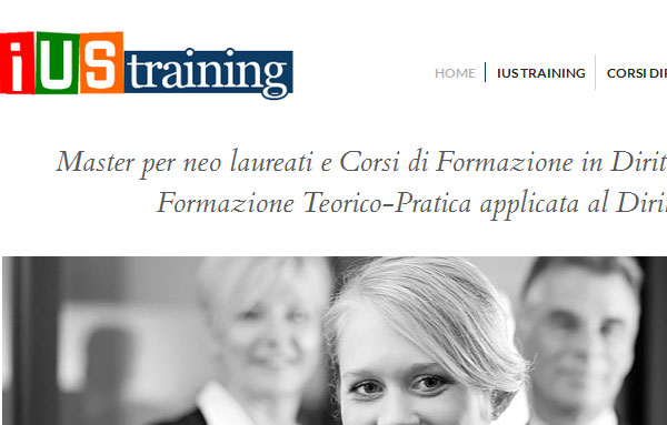 Sito web IUS training