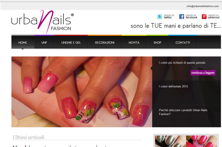 Sito web, logo e copywriting  Urban Nails Fashion