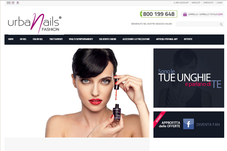 UNF Shop nails e-commerce